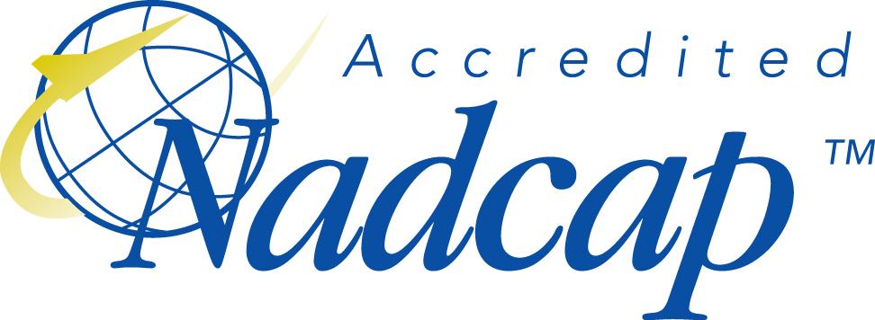 Il logo dell'ente NADCAP per saldatura laser.