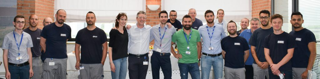 Il team di Ecor International che ha lavorato ai progetti per il cliente Thales Alenia Space.