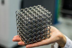 Un componente prodotto con la stampa 3D