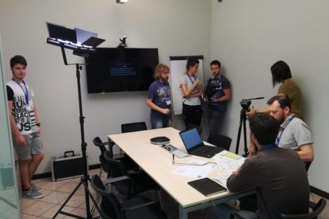 Le riprese del video corporate di Ecor International