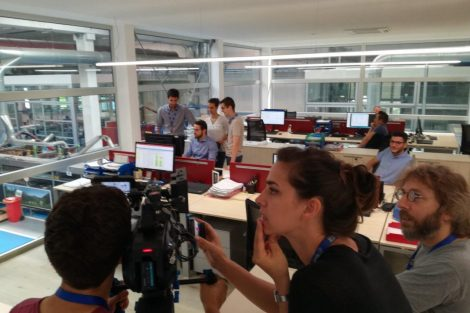 Le riprese del video corporate di Ecor International