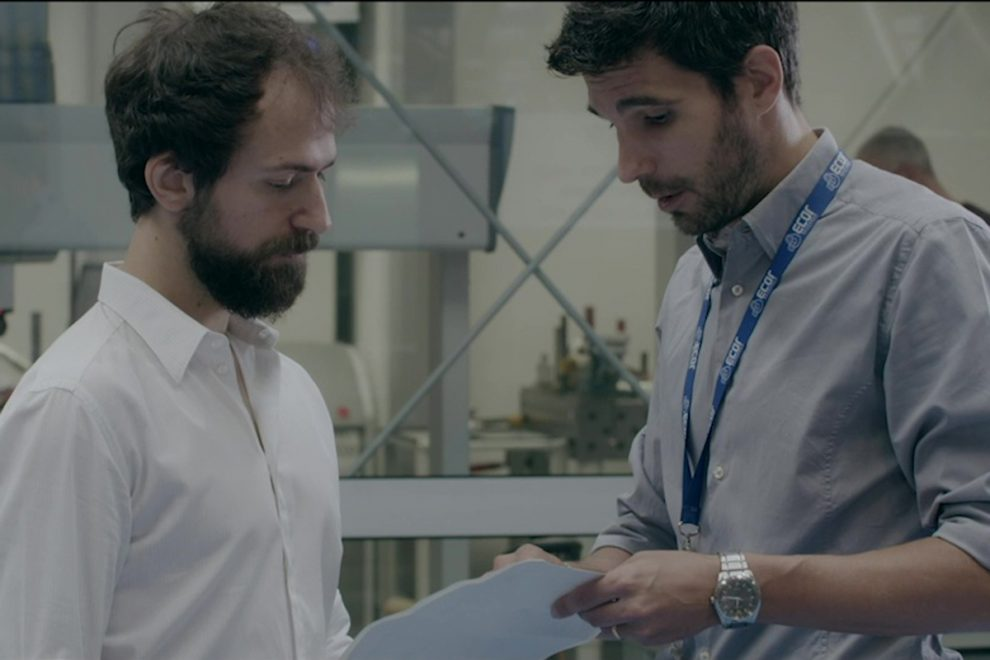Una scena del video corporate di ecor international