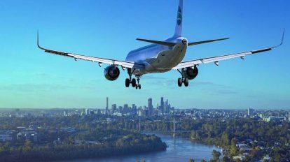 Un aereo in volo: la saldatura laser per il settore dell'aerospazio è una tecnologia utilizzabile.