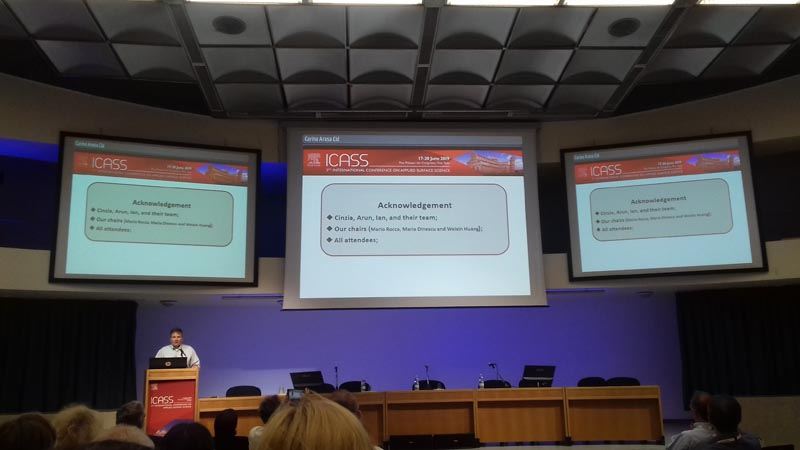 Un momento della Conferenza Internazionale sulla Scienza Applicata delle Superfici