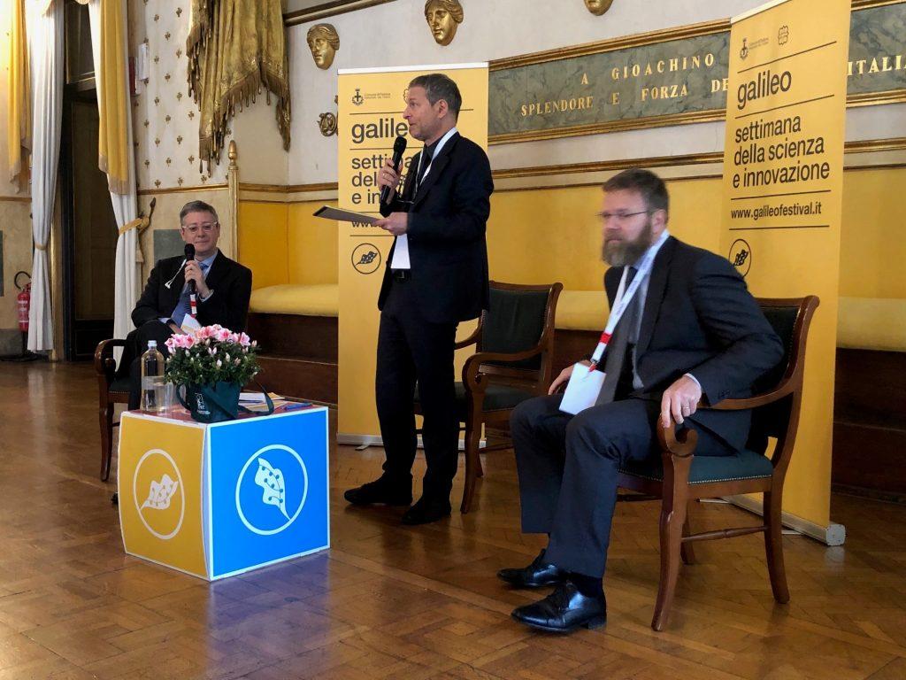 Un momento dell'incontro dedicato all'innovazione nelle aziende durante il Galileo Festival.