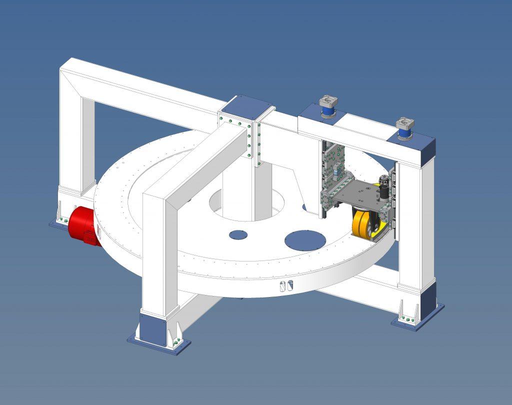 Il test rig per eseguire i test d usura di componenti.